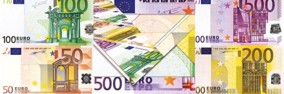 Afbeelding van verschillend euro briefgeld
